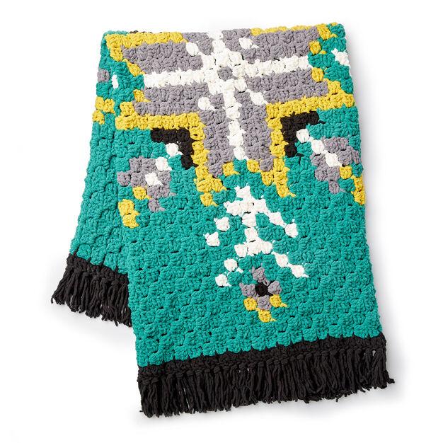 Bernat Geo Folk C2C Crochet Afghan Pattern | Yarnspirations