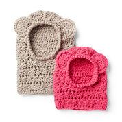 Bernat Crochet Bear Hood, 2/4 yrs