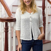 Red Heart Lace Cardi, XS