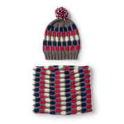 Red Heart Fair Isle Knit Hat & Cowl