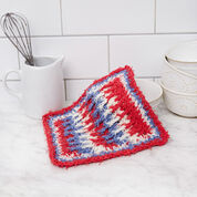 Red Heart Post Stitch Crochet Washcloth