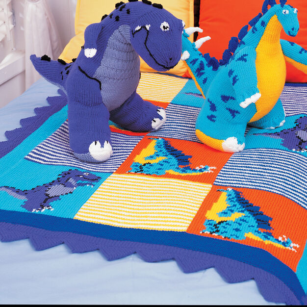 Patons Dinosaurs Blanket in color