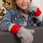 Red Heart Flip-Top Kids' Mittens, Child S