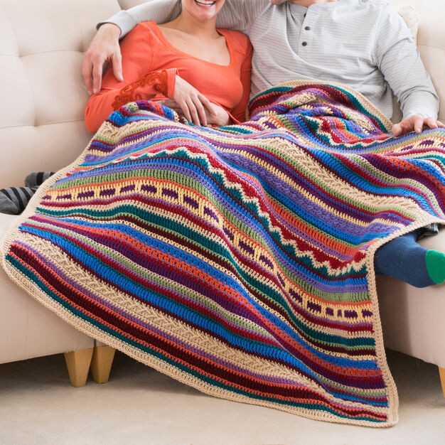 Red Heart Southwestern Rainbow Throw