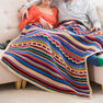 Red Heart Southwestern Rainbow Throw in color