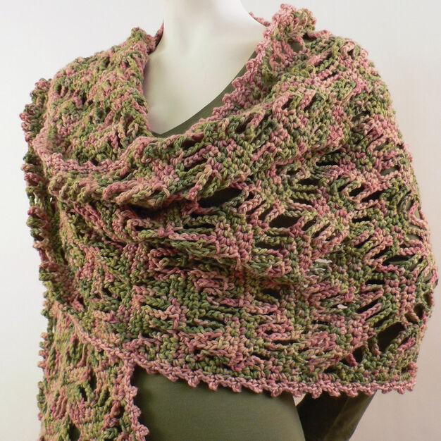 Caron Lattice Lace Wrap in color