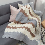 Red Heart Calming Colors Chevron Throw