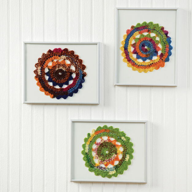 Red Heart Colorful Crochet Doilies in color