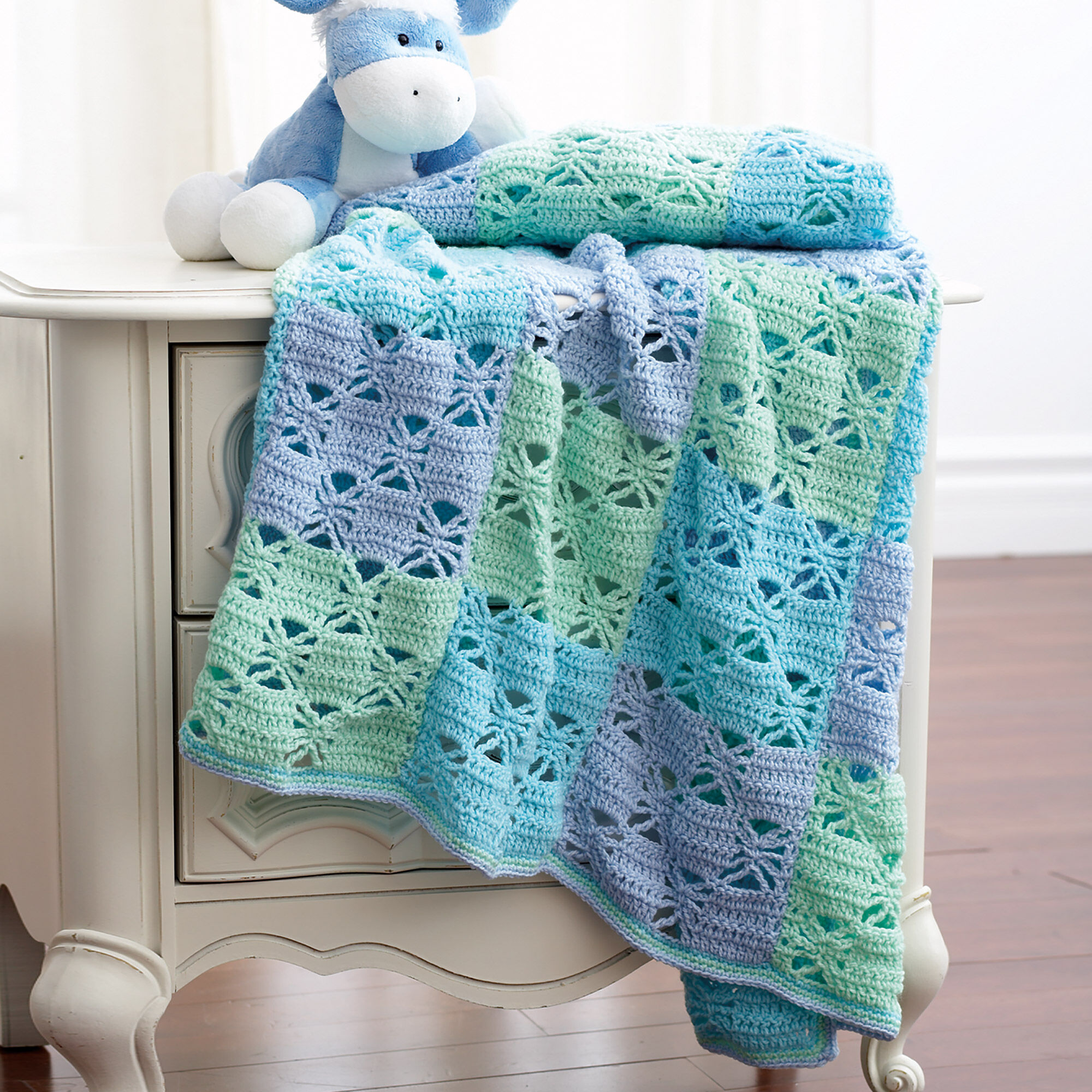 Bernat 3 Color Crochet Blanket | Yarnspirations