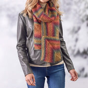 Red Heart Amazing Mitered Scarf