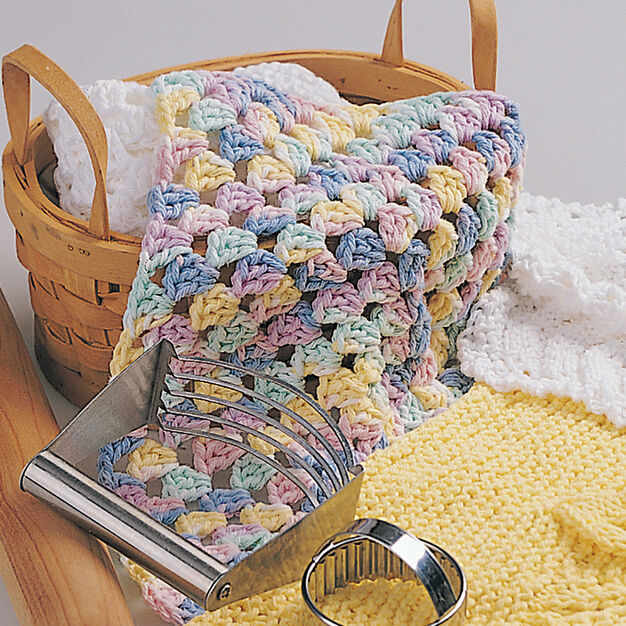 Bernat Granny Square Dishcloth in color