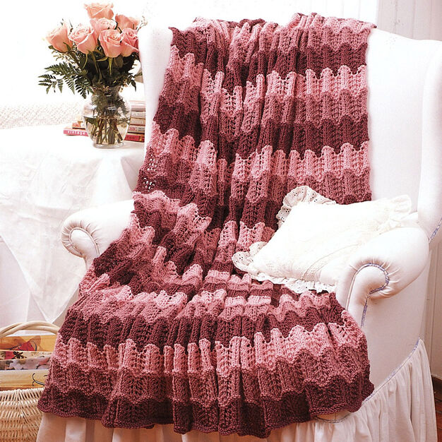 Bernat Pink Afghan to Knit