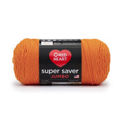 Red Heart Super Saver Jumbo Yarn, Pumpkin