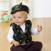 Go to Product: Red Heart Baby's Gone A Hunting Vest and Hat, 6 mos in color