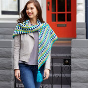 Red Heart Shivering Chic Shawl