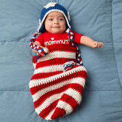 Go to Product: Red Heart Patriotic Baby Cocoon & Hat, Newborn in color