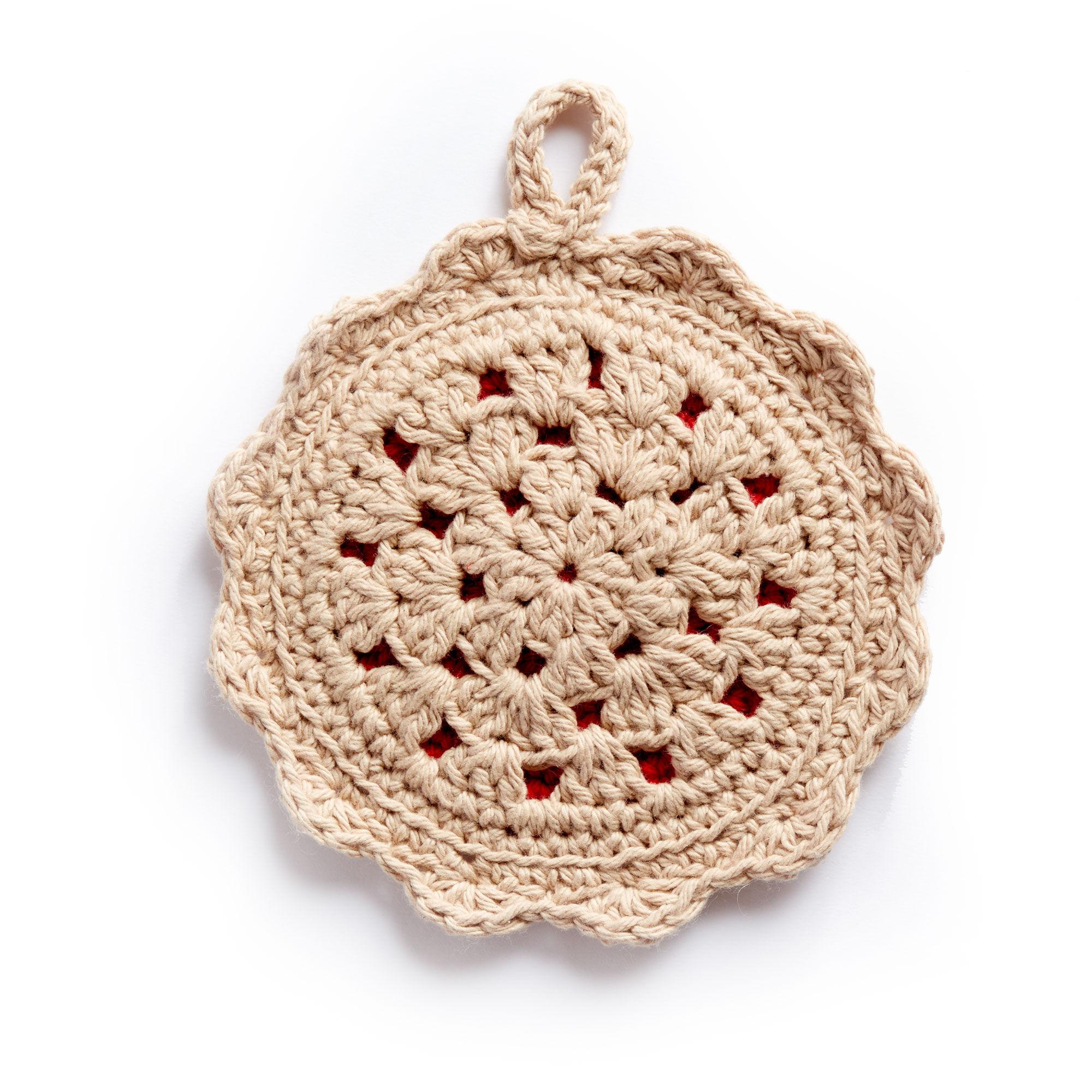 Lily Sugar'n Cream Crochet Pot Holder Diner Trio