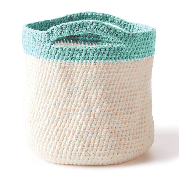 Bernat Crochet Handy Basket in color