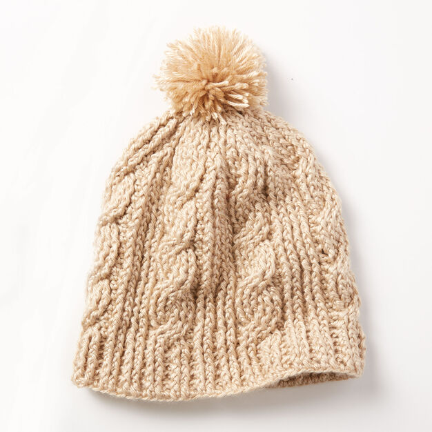 Caron Cable Twist Hat in color
