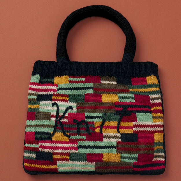 "Patons Crazy Stripes ""Knit"" Bag"