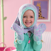 Go to Product: Red Heart Child's Ski Hood & Mittens in color