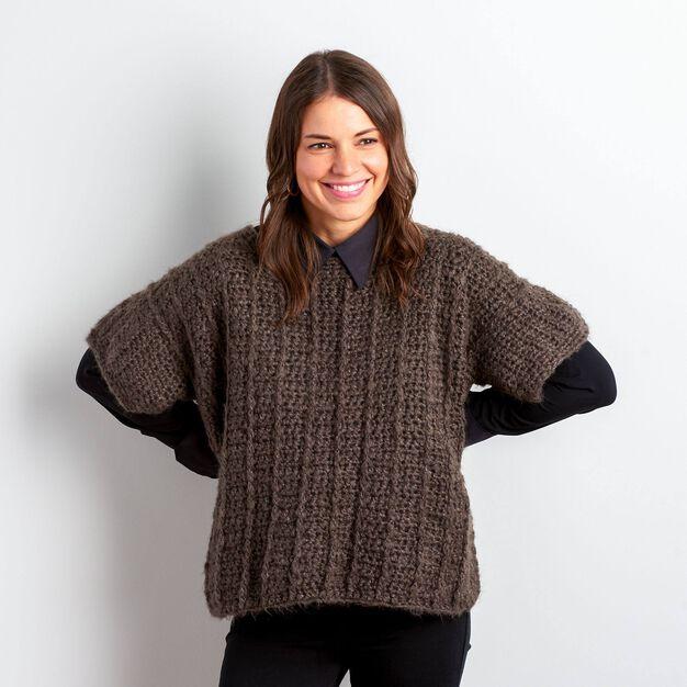 Bernat Vertical Ridges Crochet Top, XS/S in color