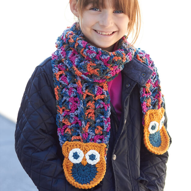 Bernat Give a Hoot! Scarf in color