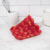 Red Heart Zigzag Crochet Dishcloth