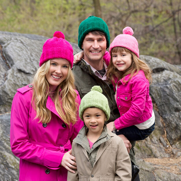 Red Heart Knit Family Hats, Child
