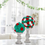 Red Heart Crafty Festive Christmas Balls