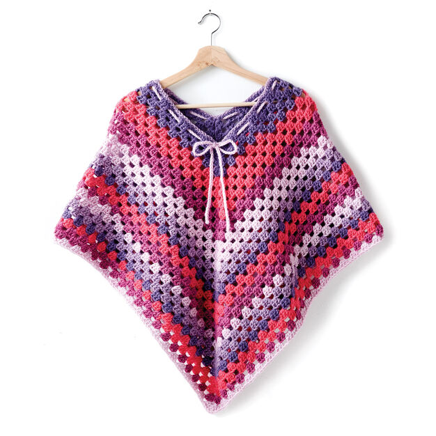 Bernat Girls Crochet Poncho Yarnspirations
