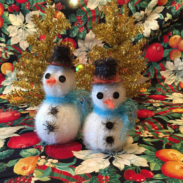 Red Heart Snowman Ornaments