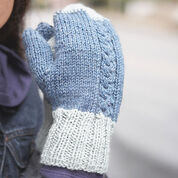 Patons Off-Set Cable Mittens