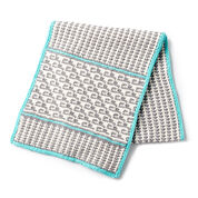 Lily Sugar'n Cream Mosaic Knit Table Runner