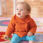 Go to Product: Bernat Garter Stitch Hooded Jacket, 6 mos in color