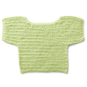 Patons Drop Stitch Knit Top, XS