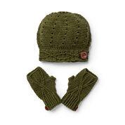 Sugar Bush Riverside Button Crochet Slouchy Hat & Fingerless Gloves