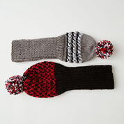 Red Heart Knit Golf Headcovers