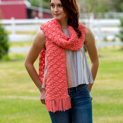 Red Heart Wavy Drop-Stitch Scarf