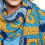 Caron x Pantone Log Cabin Blocks Crochet Scarf