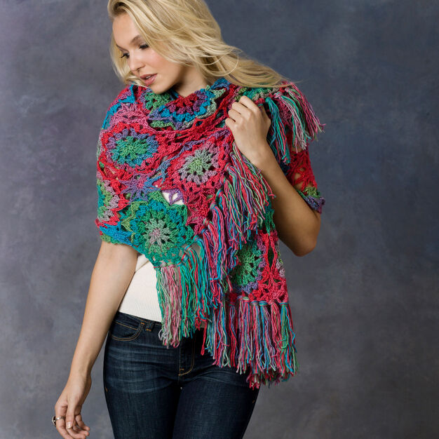 Red Heart Crochet Lorelei Shawl, S in color