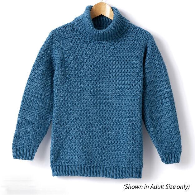 Caron Child's Crochet Turtle Neck Pullover, Size 2 in color