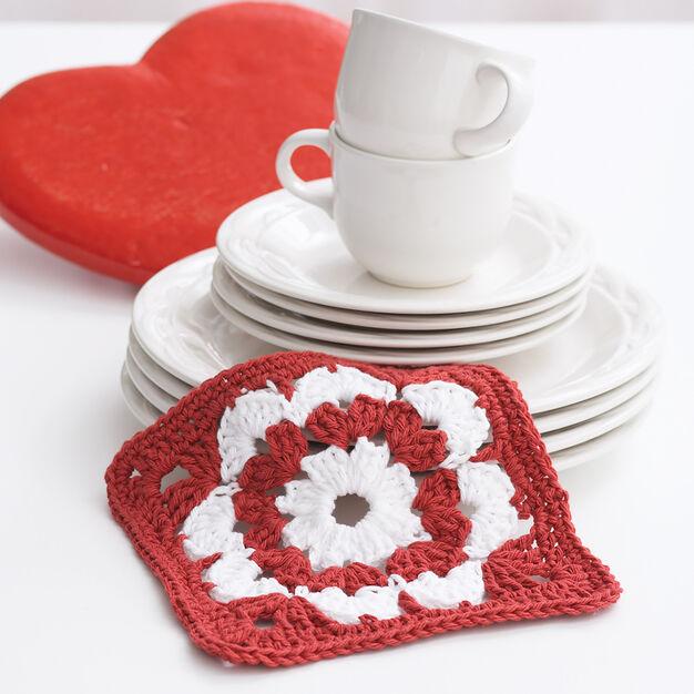 Lily Sugar'n Cream Valentine Dishcloth in color