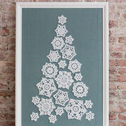 Red Heart Tree of Snowflakes