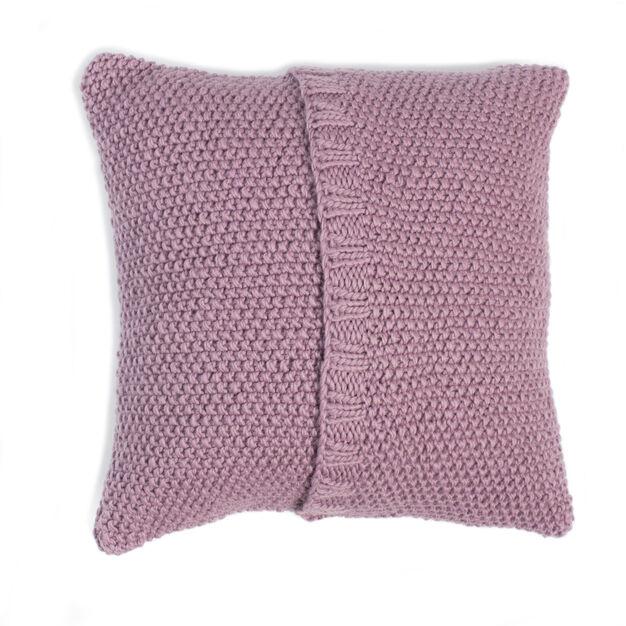 Patons Seed Stitch Knit Pillow Version 1 Pattern Yarnspirations