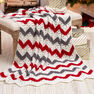 Red Heart Holiday Ripple Throw