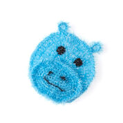 Red Heart Happy Hippo Face Scrubby