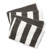Bernat Knit Placemats, Fresh Gray Stripe