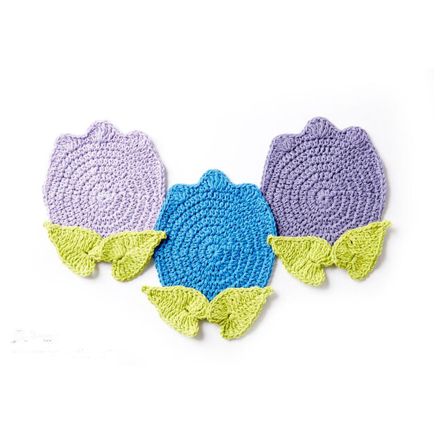 Lily Sugar'n Cream Too Cute Tulip Crochet Pot Holder, Version 1 in color