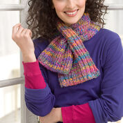 Red Heart Keyhole Knit Scarf